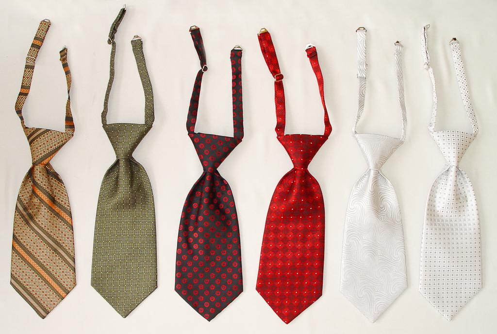 Как сделать галстук на застежке